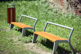 Benches by playgroud