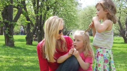 ma and girls talk
