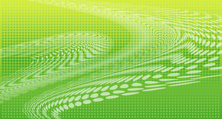 Wave background green