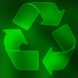 Green recycle symbol background