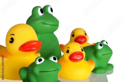 Duckies and Froggies (Closeup)