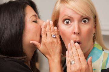 Friends Whispering Secrets