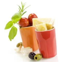 Parmesan, herbs and vegetables