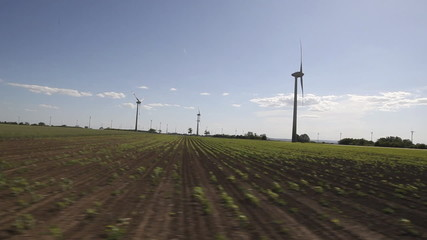 wind mill car view