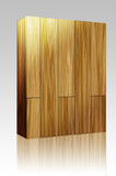 Wooden parquet tiles box package poster
