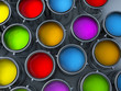 vibrant colors paint cans assortment