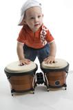 Fototapety baby playing drum