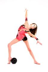 Young girl dancing modern ballet dance