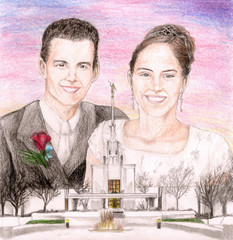 LDS temple wedding
