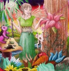 Fairy in a mystical land