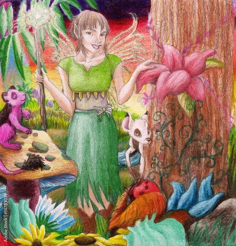 Fairy in a mystical land