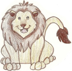 Sketch of a friendly looking lion