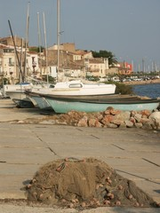 vue du port de Bouzigues, dans l'Hérault