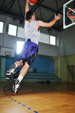 basket ball game player at sport hall