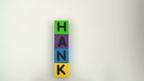 Alphabet blocks spell out THANK YOU series - HD