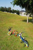child bicycle on the grass