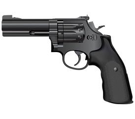 Modern revolver.Vector illustration