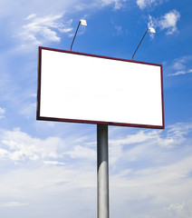 Blank big billboard over blue sky, put your text here