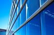 Modern blue office wall