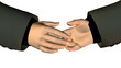 shaking hands business people