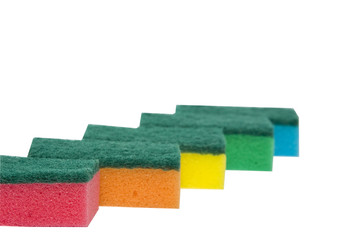 Colourful sponges
