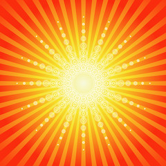 Sunburst Summer Background