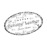Genuine leather rubber stamp poster