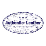 Authentic leather grunge rubber stamp poster