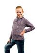 Leinwanddruck Bild - Girl is posing before camera