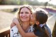 Leinwanddruck Bild - Mutter und Tochter