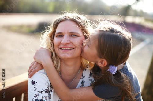 Leinwanddruck Bild Mutter und Tochter