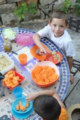 Salades d'été pour les enfants