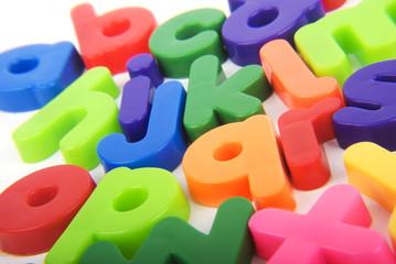 Alphabet colourful lettering
