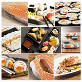 Fototapety sushi collage