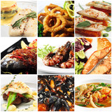 Fototapety Seafood Collage