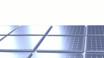 Animation panneaux solaire fond blanc