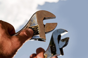 spanner in hand
