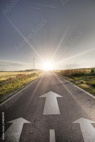 Asphalt road in country - 14838419