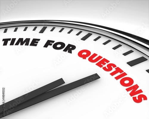 Time for Questions - Clock - 14841032