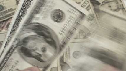 Counting money slow motion  - HD