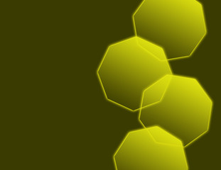 Yellow Glowing Octagons