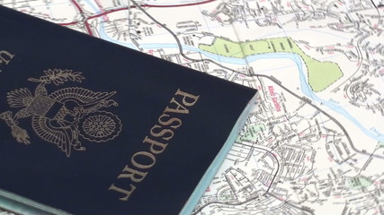 Passport on map zoom out - HD