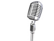 3d vintage microphone