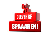 Clever sparen! Icon poster