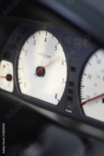 Car Rev Counter Poster