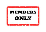 Members Only Stamp poster