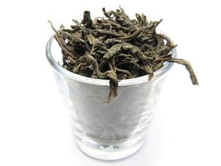 black tea in glass