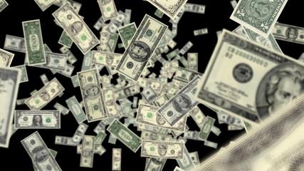 Money Fly through animated background