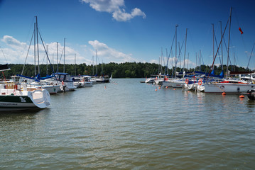 Sailboats in a lake