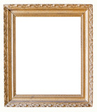 Ornate Old Golf Picture Frame